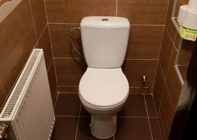 Újonnan beleépített monoblokkos wc