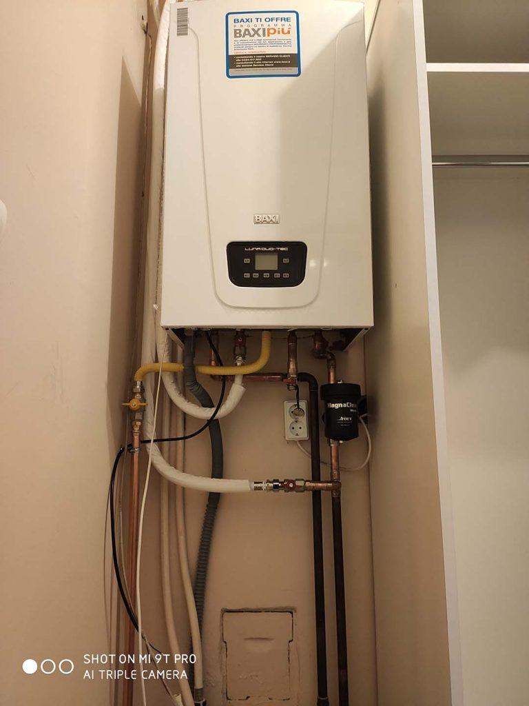 Fűtő kondenzációs kazán csere, indirekt HMV tárolóval