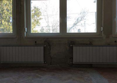 Radiátoros fűtés oldalsó kiállásokkal, alumínium radiátorok