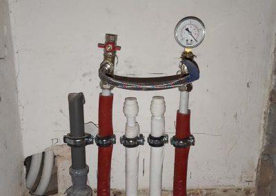 Víz-fűtés alapszerelés utáni nyomáspróba